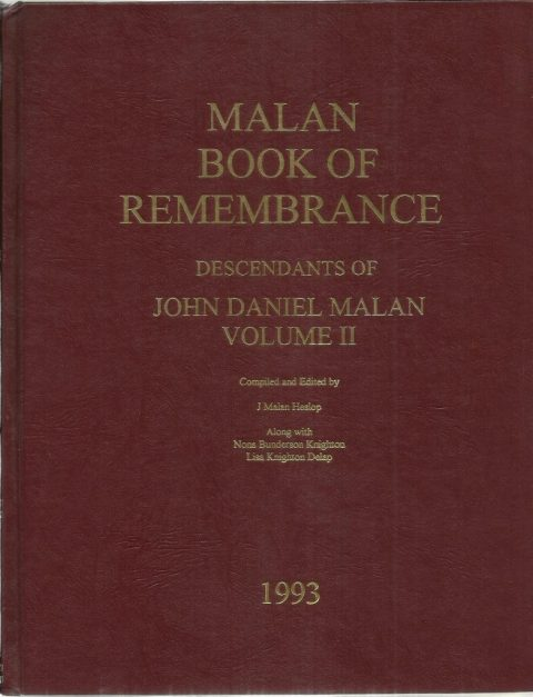 Malan Book of Remembrance